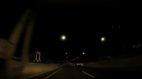 Japanese cityscape. A car window of the Metropolitan Expressway where the ビデオ
