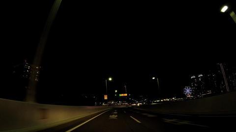 Japanese cityscape. The capital highway near Odaiba of the night ビデオ