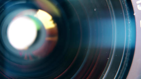 Focusing lens of digital camera. The Lens Of The Camera.... Stock Video Footage
