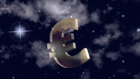 Swinging Euro Symbol CG動画素材