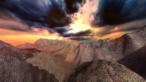 Stormy sky over mountains, Stock Animation