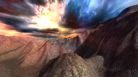Stormy sky over mountains Animation