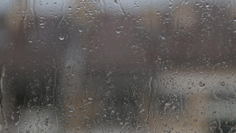 Raindrops On Window Glass GIF