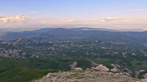 Mountains to the horizon Footage