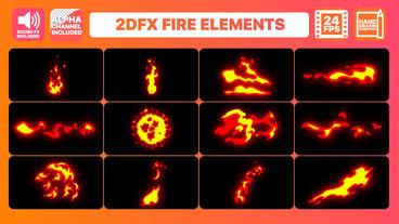 Hand Drawn Fire Elements Pack Plantilla de After Effects