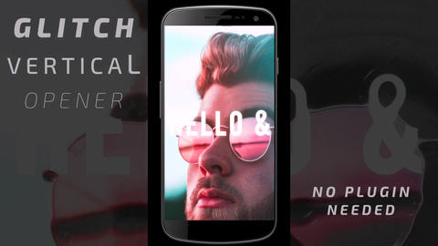 Glitch vertical opener After Effects Template
