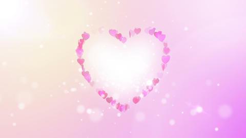 heart back ground light Stock Video Footage