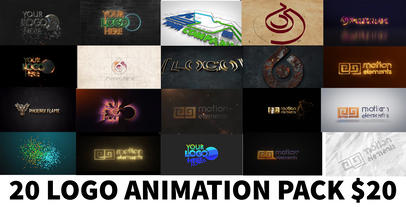 20 Logo Animation Pack Plantilla de After Effects
