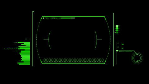 Green HUD Infographic Interface Motion Graphic Element Animation