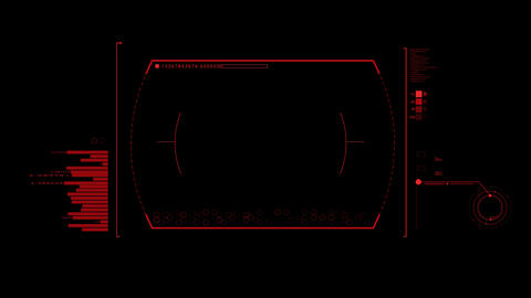 Red HUD Infographic Interface Motion Graphic Element Animation