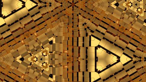Golden Abstract Kaleidoscope Background 애니메이션