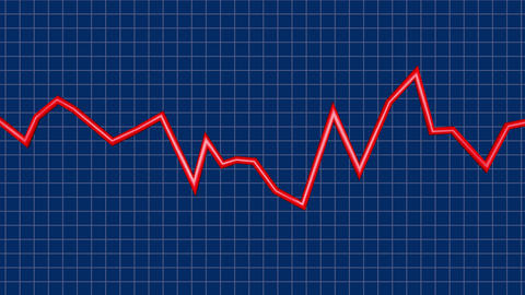 Line Graph with fluctuations. 3d animation. Jagged fluctuating sharp Animation