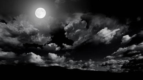 Dark Night Landscape 3 Stock Video Footage