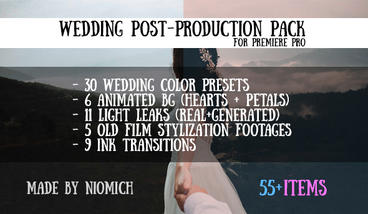 Wedding Post-Production Pack Premiere Pro Template