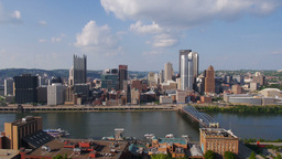 Pittsburgh Skyline Pan Footage