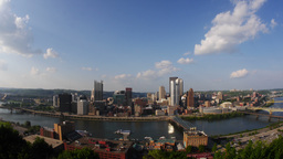 Pittsburgh Skyline Timelapse Ultra-HD 4K Footage