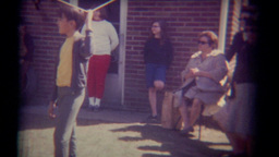 Vintage Film Families in Backyard Footage