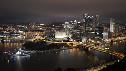 Pittsburgh Skyline Time Lapse 4K Ultra-HD Night Footage