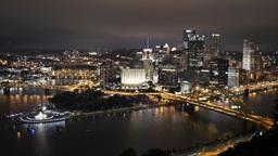 Pittsburgh Skyline Time Lapse 4K Ultra-HD Night Footage