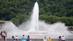 The Point Fountain in Pittsburgh Footage