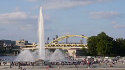 The Fountain at The Point in Pittsburgh Footage