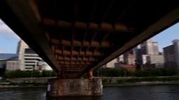 Pittsburgh Skyline from the Allegheny River Footage