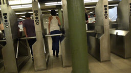 Leaving the Subway Station Footage