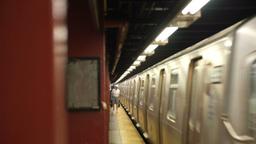 New York Subway Departs Footage