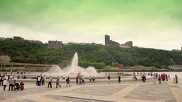 Pittsburgh Fountain at The Point Time Lapse 4K Ultra HD Footage