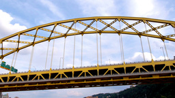 Traveling Under the Fort Pitt Bridge Footage