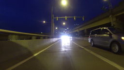 Rear View POV Driving in Fort Pitt Tunnel 2K Footage