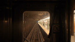 Subway Train POV Footage