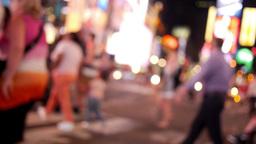 Defocused Times Square Activity Footage