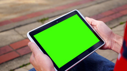 Green Screen Tablet PC 3581 Footage