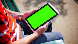 Green Screen Tablet PC 3585 Footage