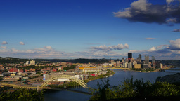 UltraHD 4K Pittsburgh Wide Timelapse Skyline 3593 Footage