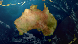 4K UltraHD Earth Zoom to Australia 3596 Footage