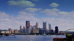 4K UltraHD Pittsburgh Skyline Timelapse 3602 Footage