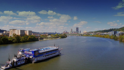 Riverboat in Pittsburgh 3607 Footage