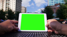 Green Screen Tablet PC 3620 Footage