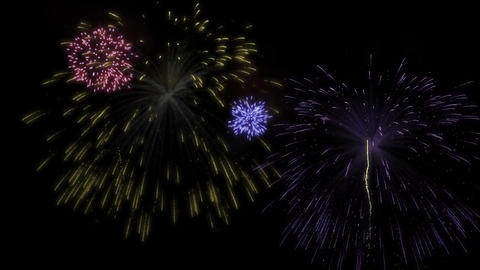 Colorful fireworks display Animation