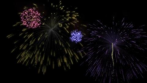 Colorful fireworks display Animation