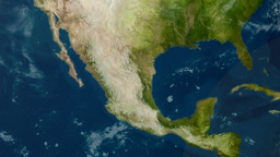 Earth Zoom to Mexico 3656 Footage