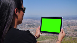 Green Screen Tablet PC 3684 Footage