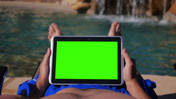Green Screen Tablet PC Pool 3685 Footage
