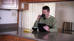 4K Breakfast Nook Tablet PC 3756 Footage