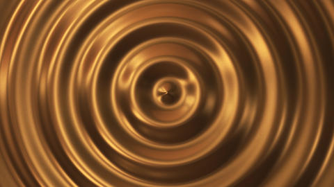 Abstract loop ripple gold 3d wave ビデオ