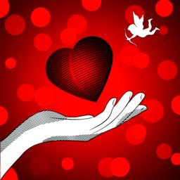 Heart cupid Vector