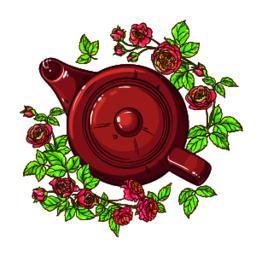 rose tea illustration Vector
