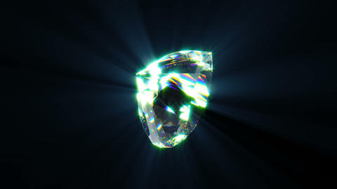 Diamond in the form of a heart able to loop Footage